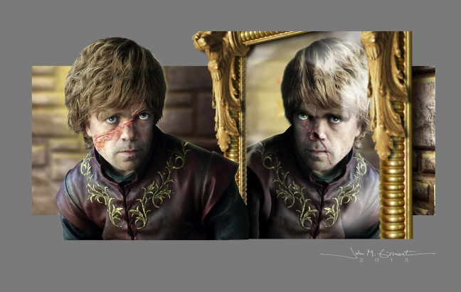 two tyrions game of thrones portrait