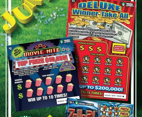 VA Lottery Playbook tear out flyer