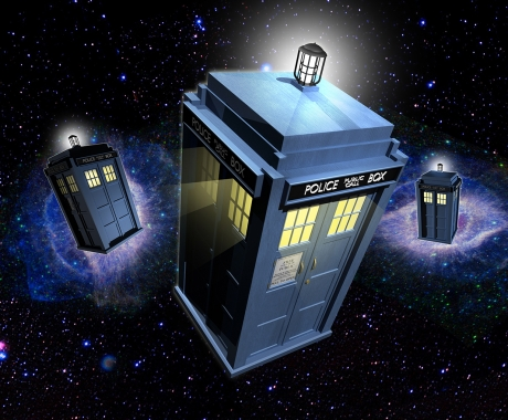 TARDIS 3D Illustration